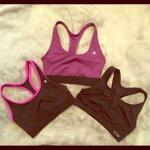 Set of 3 - champion c9 sports bras size S